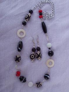 6 PERLE VETRO QUADRATO DISEGNATO 6 mm glass pearl beads BIGIOTTERIA  FAI DA TE
