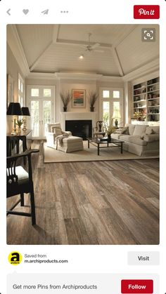 Flooring- love this wood stain