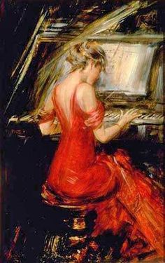 """Giovanni Boldini (1842-1931) """"La Signora in rosso"""""""