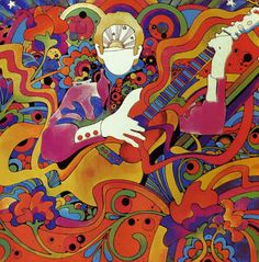 60s psychedelic illustration