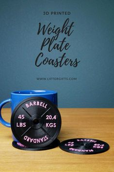Two-Color Weight Plate Coaster Set Crossfit Gifts, Crossfit Wods, Crossfit Exercises, Home Gym Set, Home Gym Decor, Best At Home Workout, At Home Workouts, Gifts For Personal Trainer, Home Workout Equipment