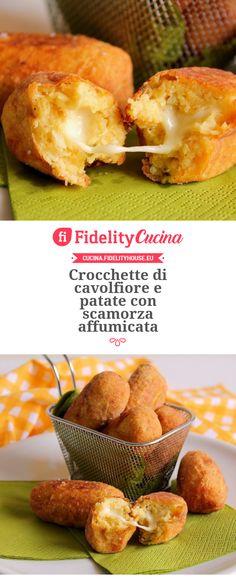 Crocchette di cavolfiore e patate con scamorza affumicata