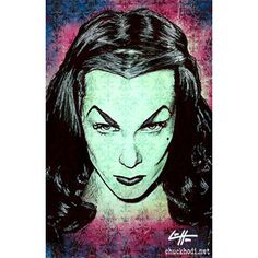 "Prints 11x17"" - Scream Queens - Morticia Addams Lily Munster Vampira Elvira Dark Art Horror Gothic Halloween Pop Art Vintage Lowbrow Art"