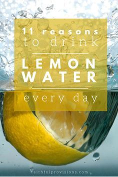 Wonder why drinking lemon water is so good for you? Here are 11 reasons to do it! http://faithfulprovisions.com/11-reasons-drink-glass-lemon-water-first-thing-every-morning/?utm_content=buffer19be5&utm_medium=social&utm_source=pinterest.com&utm_campaign=buffer#_a5y_p=4186634