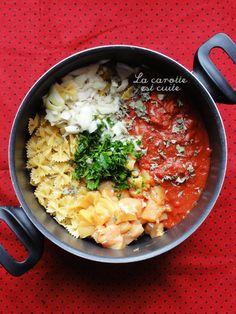 One pot pasta – farfalles crémeuses au poulet et à la tomate