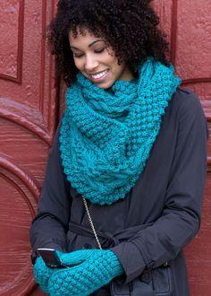 Объемная вязка для шарфа хомута   Ажур