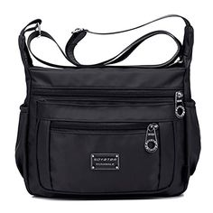 SOYATER Perfect Pockets Nylon Crossbody Bag S6059 6 Colors Available Sable >>> To view further for this item, visit the image link.
