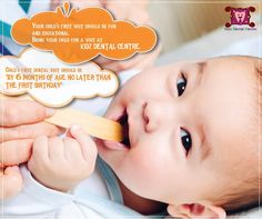 Child first dental visit should be six month of age no later than the first birthday. Your  child's first dental visit should be fun and educational. Bring your child for a visit at Kidz Dental Centre.