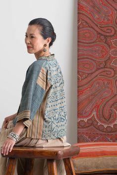 ibu Movement | Jacket made from Vintage Ikat and Silver Bangles