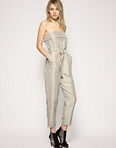 REISS Kate Silk Jumpsuit Cami Straps Suit 14 42 NEW £149 | eBay