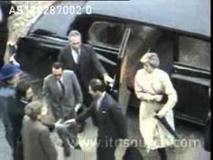 February 13, 1987: Princess Diana and Prince Charles at the Theatre in Portugal with President Soares. Video.