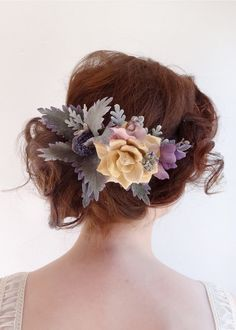 purple lavender flower crown