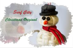 Handmade Paracord Snowman Christmas Ornament by SurfCityParacord, $12.00