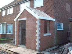 New Front Porch and Drainage – GS Construction UK Ltd – Modern Cottage Front Porches, Porch Uk, House Front Porch, Small Front Porches, Porch Doors, Front Porch Design, Porch With Toilet, Porch Extension With Toilet, Craftsman Farmhouse