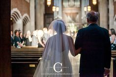 Father walks bride down aisle at Scarritt Bennett Wightman Chapel Wedding in Nashville, TN in Nashville, TN