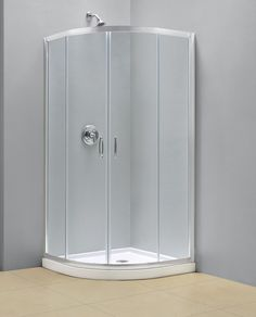 The Prime Shower Enclosure Delivers A Unique Neo Round Shape With Curved  Tempered Glass. The Prime Saves Space With A Corner Installation And  Sliding Doors ...