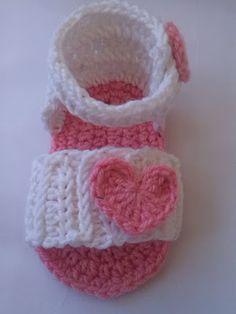 Crochet - Crosia Free Patttern with Video Tutorials: Crochet Baby Sandal