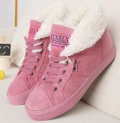 Women's Fur Sneaker Boots I like the Pink & Tan Boots