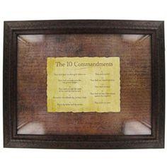 10 Commandments Framed Art | Shop Hobby Lobby