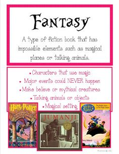 Fantasy Essential Elements Literature Unit {NO PREP}   Fantasy, 8 ...