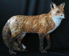 Mosaic sculpture Vixen by PJ Halloran