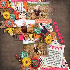 Digital Scrapbook Page by Britt | Happy Fall by Bella Gypsy