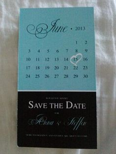 Wedding, White, Blue, Black, Invitations, The, Save, Date