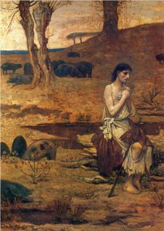 The Prodigal Son 2  - Pierre Puvis de Chavannes . Gauguin was an admirer, as was Picasso duing his Blue and Rose Periods.