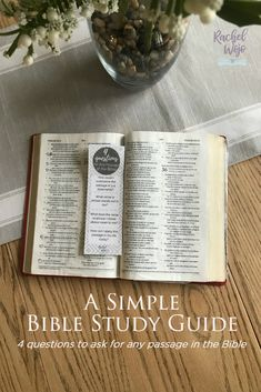 Simple Bible Study Guide for Any Passage Faith Bible, Bible Scriptures, Learn The Bible, Bible Study Guide, Study Methods, Reading Strategies, Word Of God, This Or That Questions, God's Plan