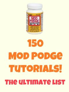 Mod Podge Craft Tutorials by Anja K