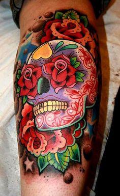 35 photos de tatouage de tête de mort mexicaine - 26