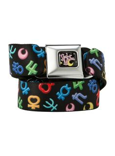 Official Sailor Moon planet symbol belt! Buy here http://moonkittynet.tumblr.com/post/124829127905/moonie-merch-of-the-day-official-sailor-moon