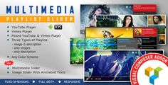 Visual Composer Addon - Multimedia Playlist Slider by LambertGroup This Visual Composer Add-oncan be used as anYouTube & Vimeo video player or as a multimedia slider.Installation ¨C https://www.youtube.com/watch?v=QpOiRNgpWuM Manage The Settings and The Playlist¨C https://www.youtube.com/watch?v=