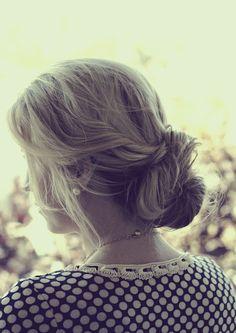 Twisted hair bun tutorial
