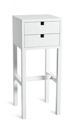 High Falsterbo Bedside Table - White
