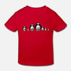 En pingvin familie Økologisk T-skjorte barn | Spreadshirt Barn, Crop Tops, Design, Women, Fashion, Moda, Converted Barn, Fashion Styles