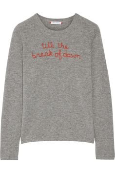 LINGUA FRANCA Till The Break Of Dawn embroidered cashmere sweater $360.0