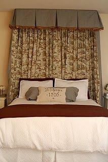 Instead of headboard on pinterest headboards fabric - What to use instead of a headboard ...