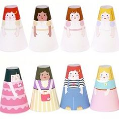 Printable Paper Dolls | Cone Girls