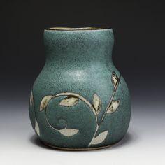 Julie Covington, In Tandem Gallery, www.intandemgallery.com - wax resist pattern - Vase