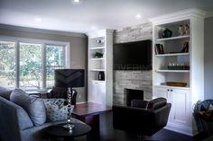 Living room w @ErthCOVERINGS Silver Fox Strips! Great design! @Bryan_Baeumler