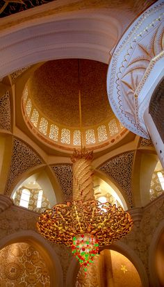 Sheikh Zayed Mosque,  in Abu Dhabi,  United Arab Emirates