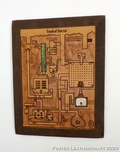 Tomb Of Horrors, Scale Map, Unique Gifts, Best Gifts, Third Anniversary, Custom Map, Leather Craft, The Fosters, Hand Carved