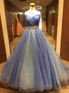 lavender tulle gown