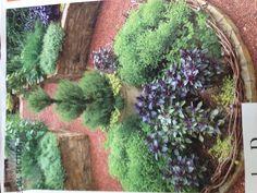 Kitchen garden as focal point