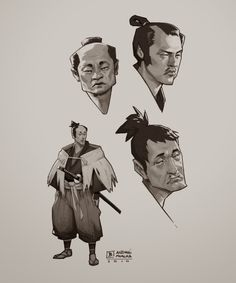 The Pictomancer: Samurai heads by André Brown Mealha
