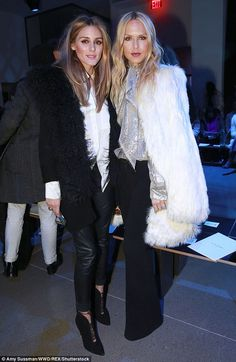 Olivia Palermo and Rachel Zoe - Altuzarra Fall 2016 Front Row - February 13, 2016 #nyfw #FROW