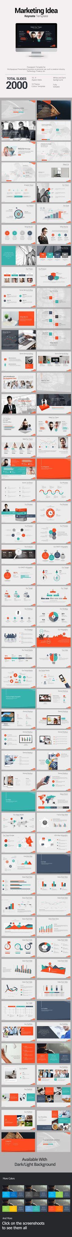 Marketing Idea Keynote Templates - #Keynote Templates #Presentation #Templates Download here: https://graphicriver.net/item/marketing-idea-keynote-templates/19604207?ref=alena994