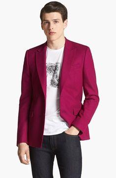 Versace Wool Blend Peak Lapel Blazer   Nordstrom
