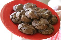 Mint Melt-Away Cookies!! I have loved this recipe since I was little! The perfect combo of mint and chocolate!
